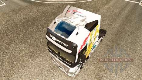 La peau de l'Euro de la Logistique chez Volvo tr pour Euro Truck Simulator 2