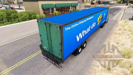 UShip de la peau pour le camion Peterbilt pour American Truck Simulator