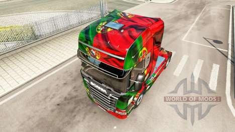 Скин Portugal Copa 2014 на Scania Streamline für Euro Truck Simulator 2
