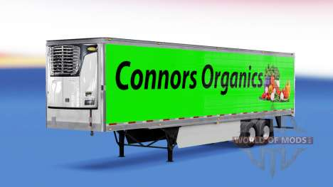Haut Conors Organics auf den trailer für American Truck Simulator