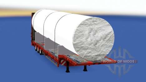 Low sweep mit einem großen, weißen Rohr für American Truck Simulator