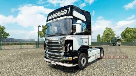 JKT International skin für Scania-LKW für Euro Truck Simulator 2