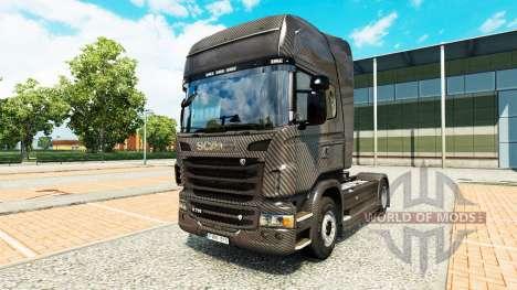 Carbono skin für Scania-LKW für Euro Truck Simulator 2