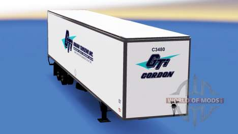 Tous métal-semi-remorque Gordon pour American Truck Simulator