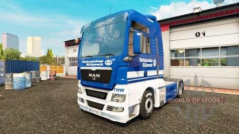 La peau THW tracteur HOMME pour Euro Truck Simulator 2