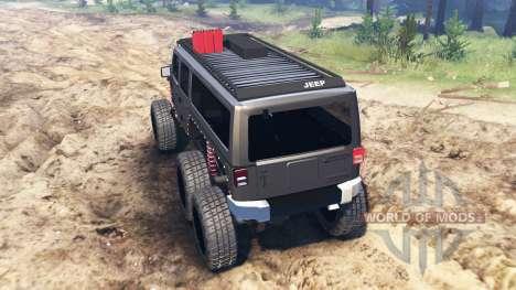 Jeep Wrangler 6x6 [crawler] für Spin Tires