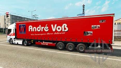 André Voss de la peau pour la remorque pour Euro Truck Simulator 2