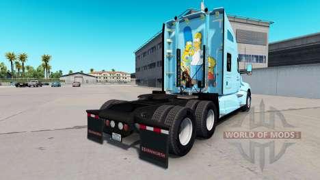 Die Haut Der Simpsons auf einem Kenworth-Zugmasc für American Truck Simulator