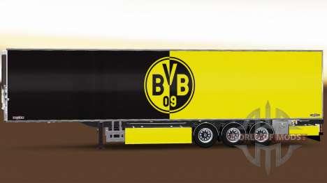 Semi-Remorque Chereau Borussia Dortmund pour Euro Truck Simulator 2