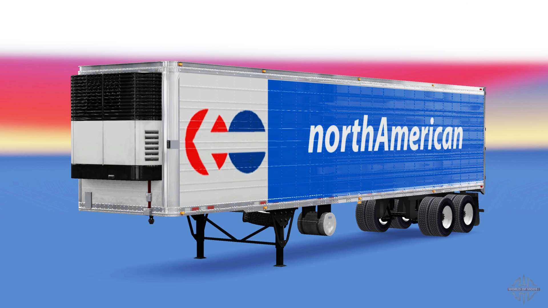 frigorifique semi remorque de l 39 am rique du nord pour american truck simulator. Black Bedroom Furniture Sets. Home Design Ideas
