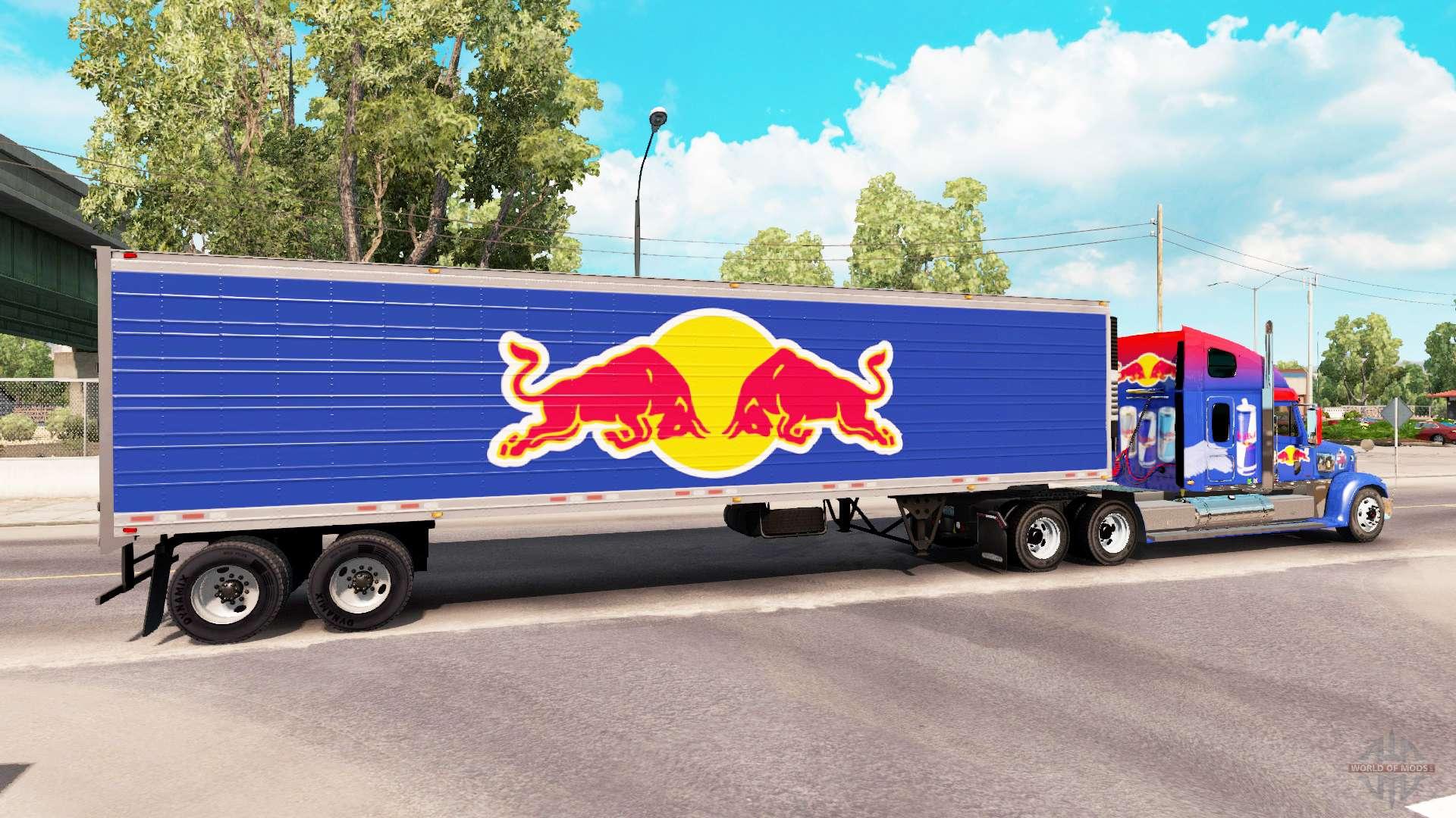 Kühlschrank Redbull : Haut red bull auf den anhänger der kühlschrank für american truck