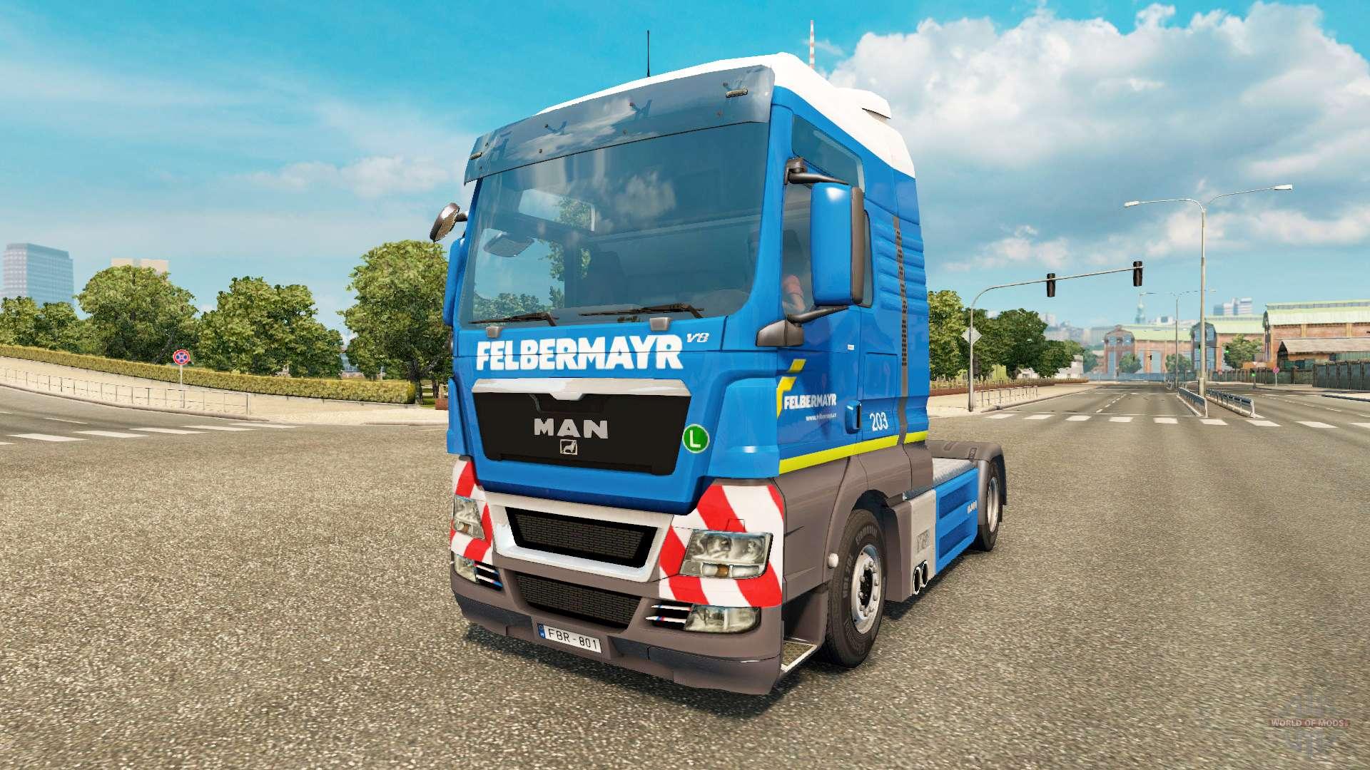 felbermayr skin f r man lkw f r euro truck simulator 2. Black Bedroom Furniture Sets. Home Design Ideas