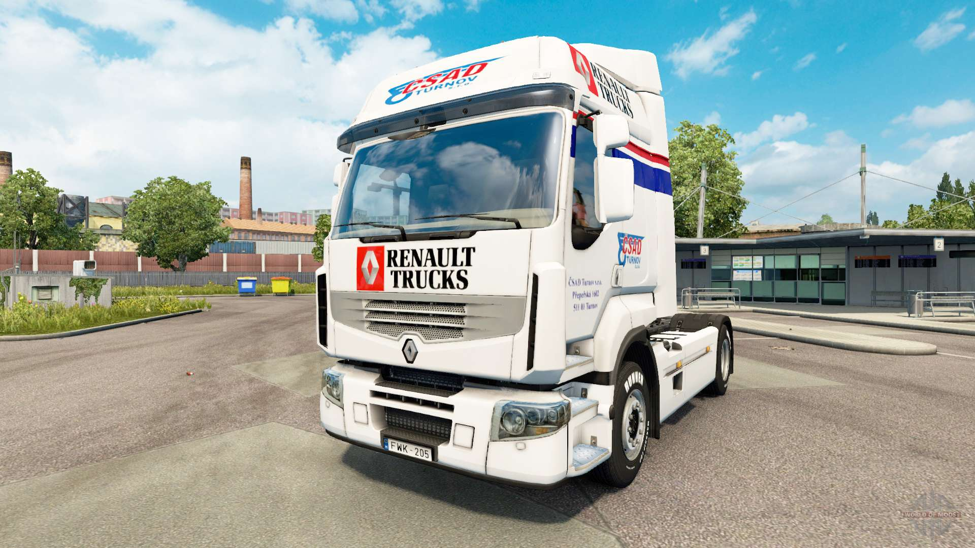 csad de la peau pour renault camion pour euro truck simulator 2. Black Bedroom Furniture Sets. Home Design Ideas