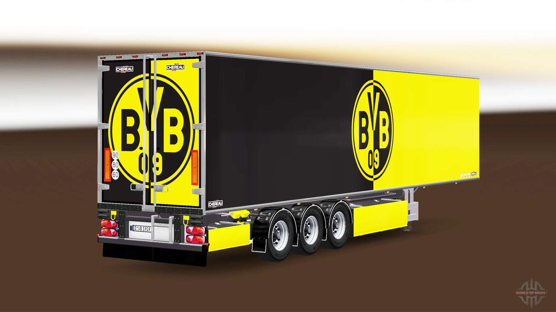 auflieger chereau borussia dortmund f r euro truck simulator 2. Black Bedroom Furniture Sets. Home Design Ideas