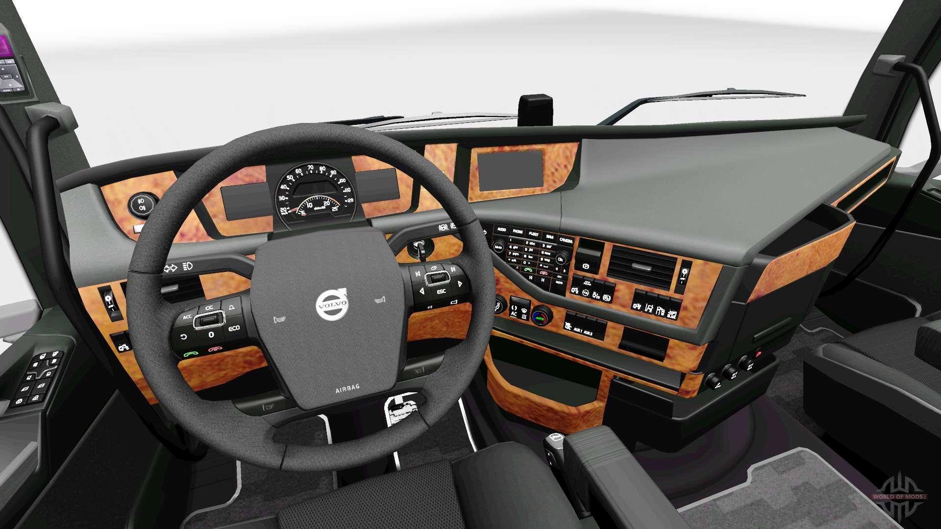 Darkline Exclusive Interieur für Volvo für Euro Truck Simulator 2
