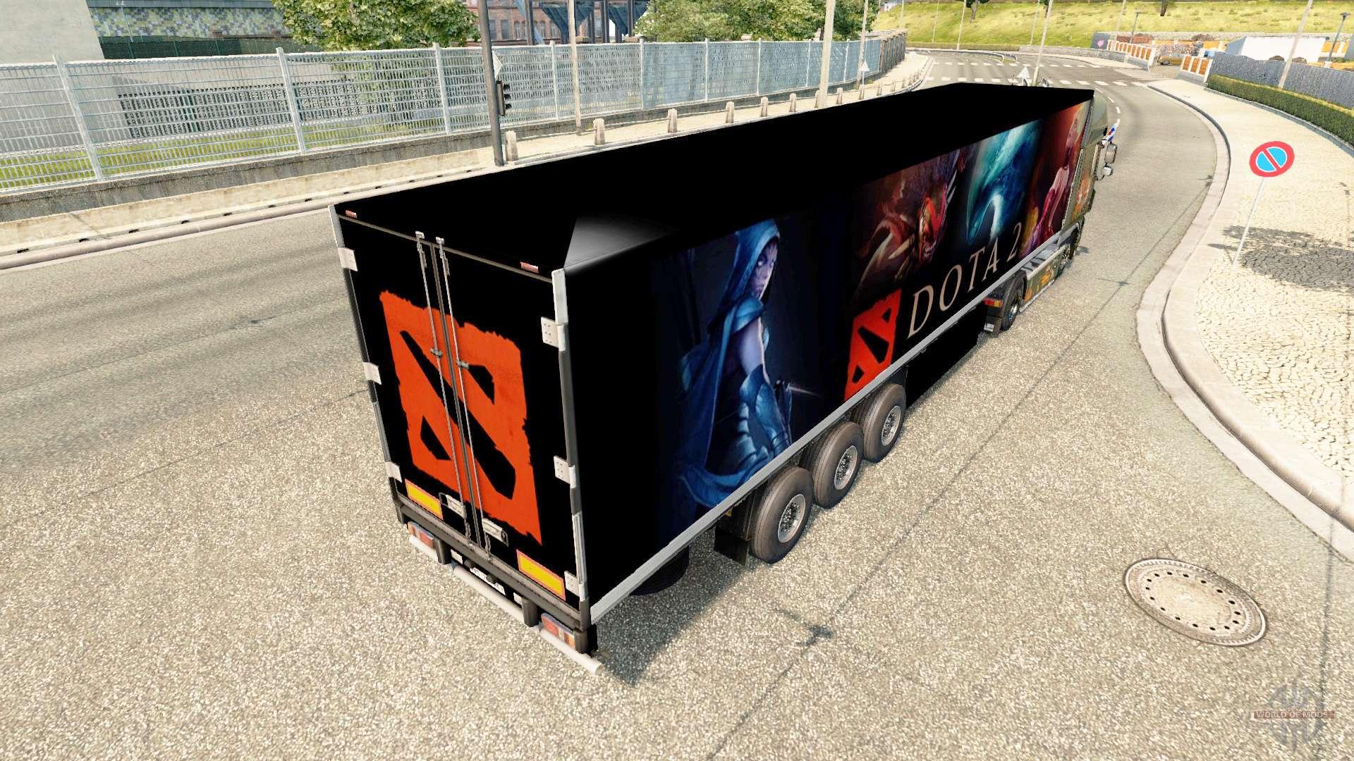 haut dota 2 auf dem anh nger f r euro truck simulator 2. Black Bedroom Furniture Sets. Home Design Ideas