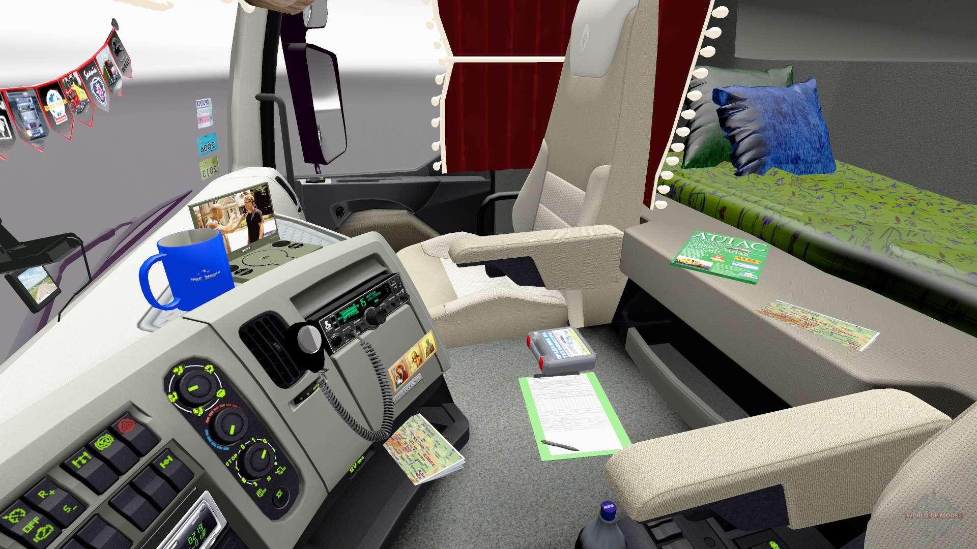 Euro Truck Simulator 2 - intérieurs télécharger intérieurs pour ETS 2