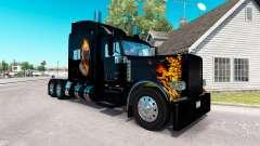 Ghost Rider la peau pour le camion Peterbilt 389