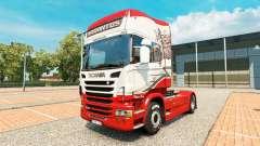 Sarantos de la peau pour Scania camion