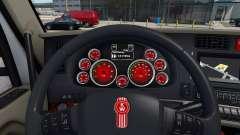 Rote Farbe der Geräte auf einen Kenworth T680