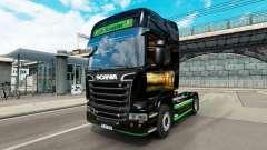 La peau Revada & de Keuster sur tracteur Scania