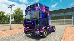 La peau de Bureau oGrafhic sur tracteur Scania