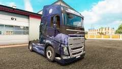 L'hiver des Loups de la peau pour Volvo camion