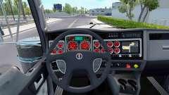 Rote Farbe Geräte haben einen Kenworth W900
