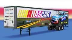 La peau sur la NASCAR est tout-métal remorque