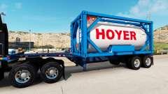 La semi-remorque-le conteneur de camion avec des