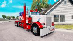 États-unis de la peau pour le camion Peterbilt 3