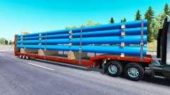 Bas de balayage avec une cargaison de tuyaux