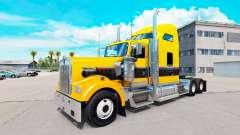 La peau de l'Or Noir sur le camion Kenworth W900