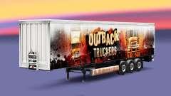 Outback Truckers Haut auf dem Anhänger
