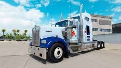 La peau UNC Tarheel sur le camion Kenworth W900