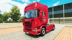 De la peau 1. FC Nuremberg dans le camion Scania