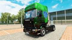 Exklusive Metallic-skin für den Scania truck