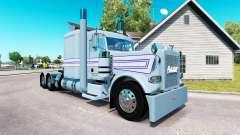 Haut, Blau-weißen Streifen für die LKW-Peterbilt