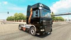 Caballos de la peau pour DAF camion