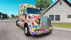 Sticker Bomb skin für den truck Peterbilt
