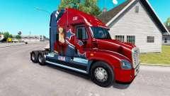 La peau Mandy au tracteur Freightliner Cascadia