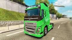 La Flèche verte de la peau pour Volvo camion