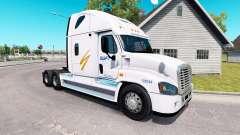 La peau Swift sur tracteur Freightliner Cascadia