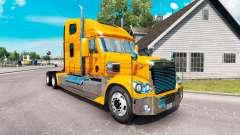 La peau Métallique sur le camion Freightliner Co