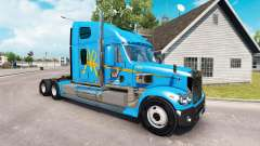 La peau A&R sur le camion Freightliner Coronado