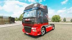 Gris Rouge de la peau pour DAF camion