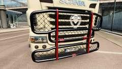 Der V8-Stoßstange an der Zugmaschine Scania
