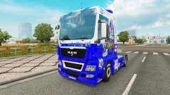 La peau FC Schalke 04 sur le tracteur HOMME