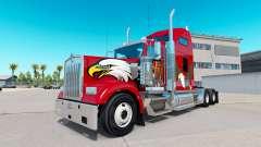Haut-Adler auf der LKW-Kenworth W900