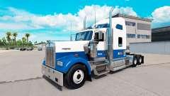 Haut, Blau-weiß-truck Kenworth W900